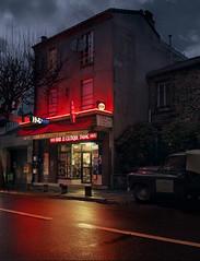 Le Celtique, Montreuil-sous-Bois. (blaisearnold.net) Tags: pluie bar bistrot tabac paris montreuilsousbois cloudy rain raining nuage nuageux loto banlieue suburb france