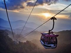 287/365 Genting cable car (xiaolewy) Tags: ricoh gxr a12 28mm f25 color landscape cable car genting highland mountain sunset magic hour back light shadow