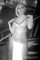 Got Cosplay? - Blue Latex Dress (macona) Tags: latex dress fetish model shiny rubber kink cosplay cosplayer costume blue hair