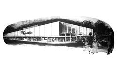Korvettes Audubon Sketch 1961 (JSF0864) Tags: korvettes building drawing