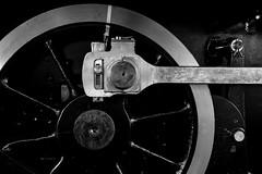 And the world goes round (tom.leuzi) Tags: bw canoneos6d eisenbahn lokomotive metall rad rder schweiz switzerland blackandwhite carriage line locomotive metal oldtimer rail railway schwarzweiss train wheel canonef1635mmf4lisusm steamengine 1907 historic rotonde delmont sbb