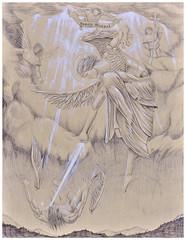 Sancte Michael Archangele (alexandre_rogala) Tags: art angel catholic catholique sancte michael archangele archangel saint archange michel heaven holy black white ballpoint pen drawing
