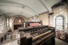 (satanclause) Tags: abandonn chappelle abandoned chapel oputn kaple france hdr urbex harmonium