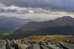 Snowdon and the North Wales coast viewed from Glyder Fawr (neilsimpson515) Tags: nikon2470 tryfan snowdonia northwales nikon nikond800e landscape mountains