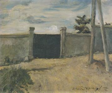 岸田劉生「門と草と道」(1916)