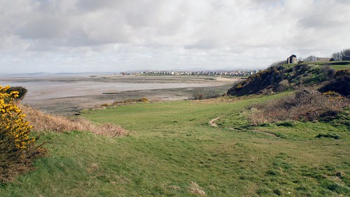 Heysham beach and  St Patrick