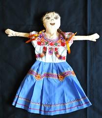 Mexican Doll Zoogocho Oaxaca (Teyacapan) Tags: costumes mexico dolls embroidery mexican oaxaca textiles sierrajuarez trajes zapotec solaga zoogocho