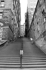 Edinburgh City Streets (Josieroo13 (Bear with me whilst I play catch up)) Tags: street uk blackandwhite monochrome architecture stairs landscape scotland edinburgh