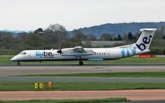 "G-ECOF DHC-8Q 402 Flybe MAN 19-04-15 (PlanecrazyUK) Tags: man manchester ringway egcc flybe airport"" dhc8q402 ""manchester gecof"