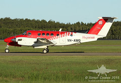 VH-AMQ BEECH 200 KING AIR AMBULANCE SERVICE OF NSW (QFA744) Tags: king air 200 beech rfds vhamq