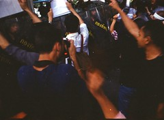 Protest (canis_lupus65) Tags: street film 35mm thailand bangkok protest filmcamera coup rangefider
