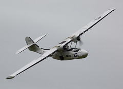 Catalina (Bernie Condon) Tags: plane vintage flying catalina display aircraft aviation military airshow consolidated ww2 duxford preserved flyingboat warplane cambs veday usaaf