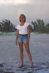 #TDIH - June 1 2001 (WindJammer Photo) Tags: ocean 2001 vacation portrait film beach beautiful beauty june canon sand gulf outdoor gorgeous ps blonde wife denim shorts gulfcoast tdih