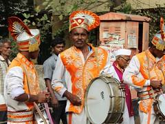 Procession Band (Shrimaitreya) Tags: india man band maharashtra procession hindu hinduism yatra pune brassband maharashtrian popularreligion