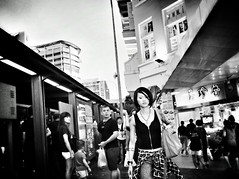Heads will turn when i walk . (-Faisal Aljunied-) Tags: tattoo streetphotography ricohgr bwstreet turnheads faisalaljunied