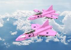 I-27 Warrior (Thomas of Tortuga) Tags: lego ldd render dcvi cold war pink fighter jet