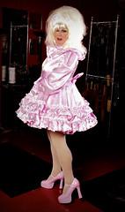 Pink Satin Sissy 5 (jensatin4242) Tags: sissy crossdresser transvestite jensatin satin frilly