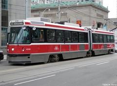 TTC 4249 (magnetboy1) Tags: toronto downtown ttc intersection streetcar 4249 recently rebuilt queenstw universityave 501queen 198789utdccancarrailalrv