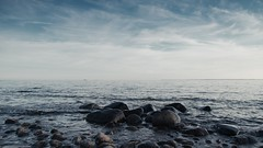 (Pernordfoto) Tags: ocean sea sky water clouds canon landscape coast seaside rocks sweden outdoor shore 5d