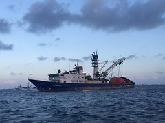 Marshall Islands have one of the biggest fishing waters belonging to them and here are the boats that fish the most populare type, the tuna.