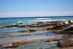 La mer (Amlie Kibler) Tags: mer summer blue bleu rocher caillou stone rock sea handa pays basque spain espagne france french holiday vacances beach
