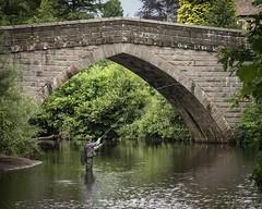 Froggatt Bridge (Steve Wood (peakscan)) Tags: derbyshire flyfishing angler froggatt