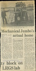 april 15th 1983 mechanical jumbo newspaper (morecambememories) Tags: morecambe flyer advert morecambememories jumbo elephant mechanicalelephant