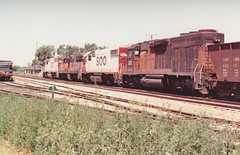 Elephants in H2O-town (MILW157) Tags: road railroad orange black train track line milwaukee bandit soo sd10 watertown gp382 sd40 gp40