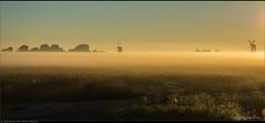 Schimmenspel [EXPLORED] (Peterbijkerk.eu Photography) Tags: mist windmill nevel nederland nl molen noordholland schermerhorn zonsopkomst explored peterbijkerkeu