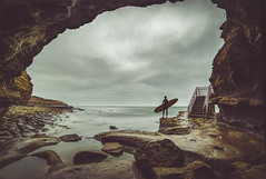 Go It Alone (Fluid Light Images) Tags: surf surfing outside adventure sunsetcliffs rocks ocean sandiego samyang 14mm