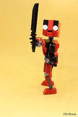 Gun & Blade (seb Toutouille) Tags: lego action figure blade gun deadpool comics marvel