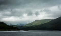 Through the Clouds (Daniel C P M) Tags: clouds through money green water sea lake ripples dark dramatic hills mountains scotland landscape landscapes outdoor wow nikon d7100 nikond7100 cold uk bushes grass