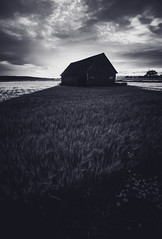 Shadowplay (Magnus Eriksson75) Tags: sweden sverige nordic scandinavia landscape landskap barn shadow light samsung nx500 samyang sunset bw