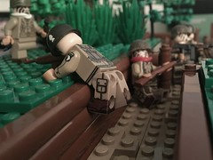 Brecourt Manor storming the trenches (brick_builder7) Tags: brickbuilder7 dayofdays dday normandy bandofbrothers ecompany easycompany company easy airborne 101st paratrooper ww2 wwii manor brecourt trench scene moc brothers band lego