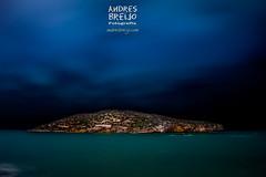 La isla (Andres Breijo http://andresbreijo.com) Tags: mazarron puertodemazarron murcia isla island mar sea cielo sky noche night