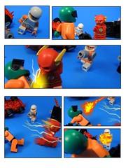 The Flash: Rogue Rogues #4 (MrKjito) Tags: lego minifig flash super speed rogue rogues force mirror master heat wave gun dc comics comic hero villain
