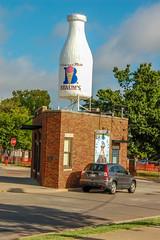 Milk Bottle (roughshod) Tags: oklahomacity milkbottle route66 oklahoma braums