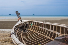 Old boat (Ivanov Andrey) Tags: sea boat ocean shore coast sand island peninsula water wave surf tide motor screw rust rope blue nature travel east thailand