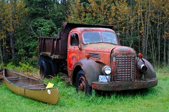 Minnesota Roadside Rust (Cragin Spring) Tags: kniferiver kniferivermn kniferiverminnesota minnesota mn truck rust roadside canoe international dumptruck hwy61 midwest unitedstates usa unitedstatesofamerica