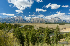 Teton Afternoon (kevin-palmer) Tags: nationalpark wyoming september fall autumn tamron2470mmf28 nikond750 sunny blue sky snakeriver anseladams overlook grandtetons mountains scenic view circularpolarizer clouds