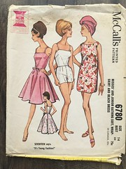 6780 (mrogers1@uw.edu) Tags: sewingpatterncollection 1960s dress skirt swimsuit shorts seventeen youngfashion pants beachwear