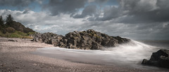 Powillimount (TrotterFechan) Tags: powillimount beach solway outdoor rock formation sea