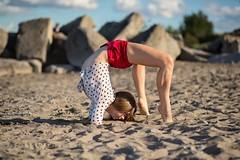 (rebekkaweigand) Tags: sexy girl fit woman strong beautifull blondie yoga dancer dance acro flexible beach hamilton toronto model