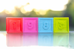 p365/102. (Pics by Susanna) Tags: color reflection backlight reflections toy colorful play year bricks creative numbers sunsetlight day102 babytoy birthyear day102365 numberblocks 365the2015edition 3652015 12apr15