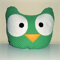 Almofada Corujas - Owl Pillow (bruna.cosini) Tags: home brasil bag skull tissue pillow owl coruja patch decor caveira almofada tecido pou