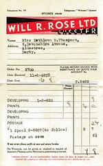 Miss Kathleen M Thompson's receipt (vintage ladies) Tags: blackandwhite 1948 vintage 40s