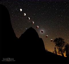 Tangential (Jason Branz) Tags: moon tree collage composite night stars eclipse yosemite yosemitenationalpark cathedralrock yosemitevalley lunareclipse totality