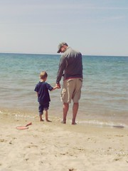 Life (A-Wix) Tags: beach father son likefatherlikeson