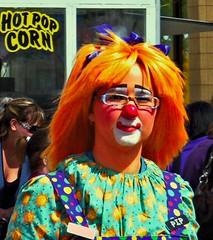 Pip - The Clown (ezigarlick) Tags: orange canada hair winnipeg clown manitoba pip streetfestival transcona hineighborfestival