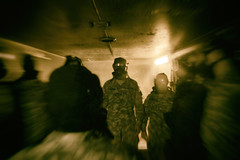 Chamber. (Johnny Silvercloud) Tags: people training canon soldier army uniform mask candid military masks soldiers cs gasmask daytime 1740mm teargas individuals acus csgas promask vectorstar canon70d lightroom5 gaskmasks analogefexpro2